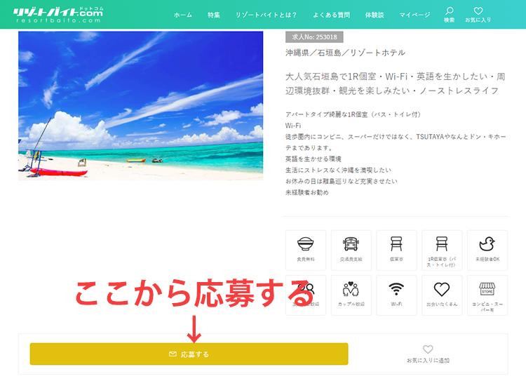 リゾートバイトの詳細情報